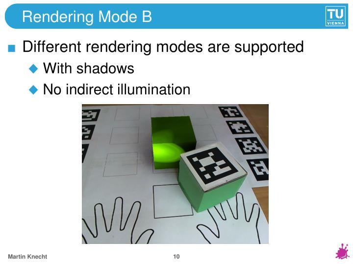 Rendering Mode B