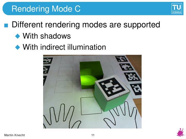 Rendering Mode C