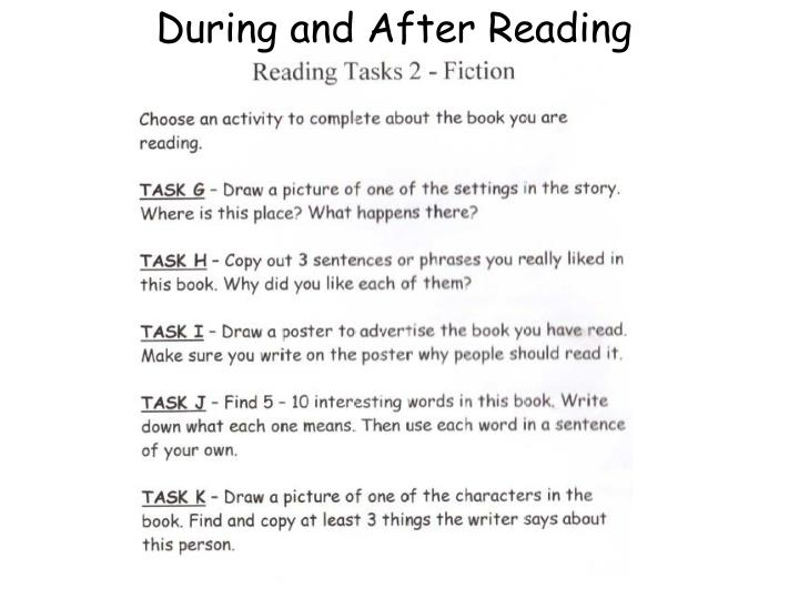 During and After Reading