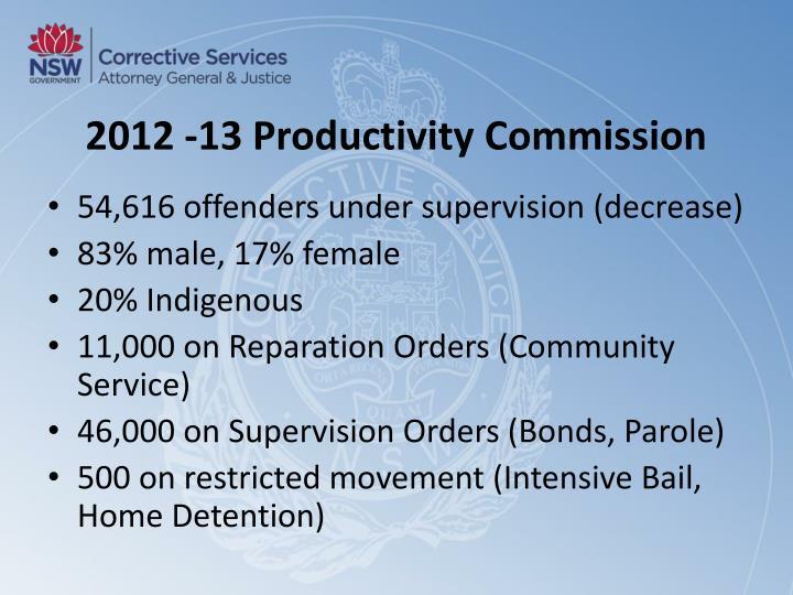 2012 -13 Productivity Commission