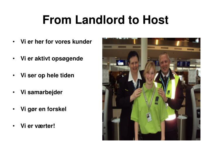 From Landlord to Host