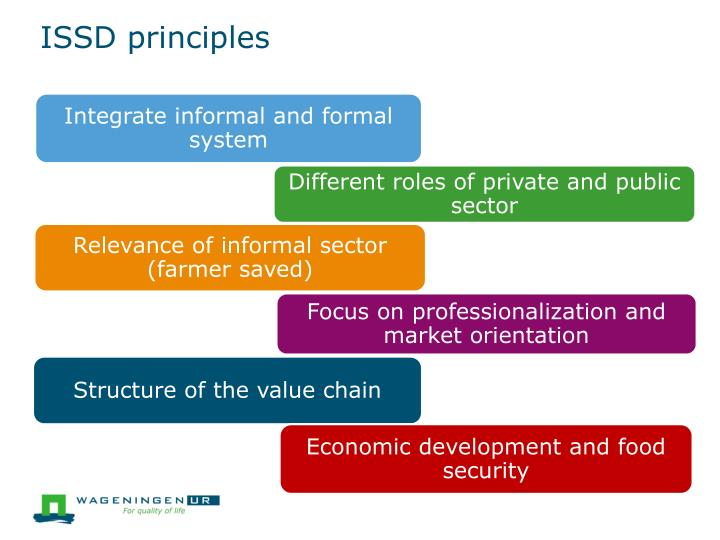 Different roles of private and public sector