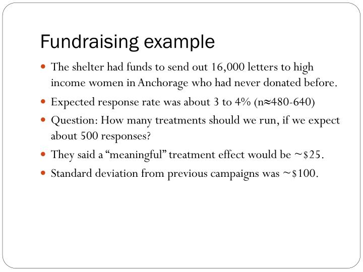 Fundraising example