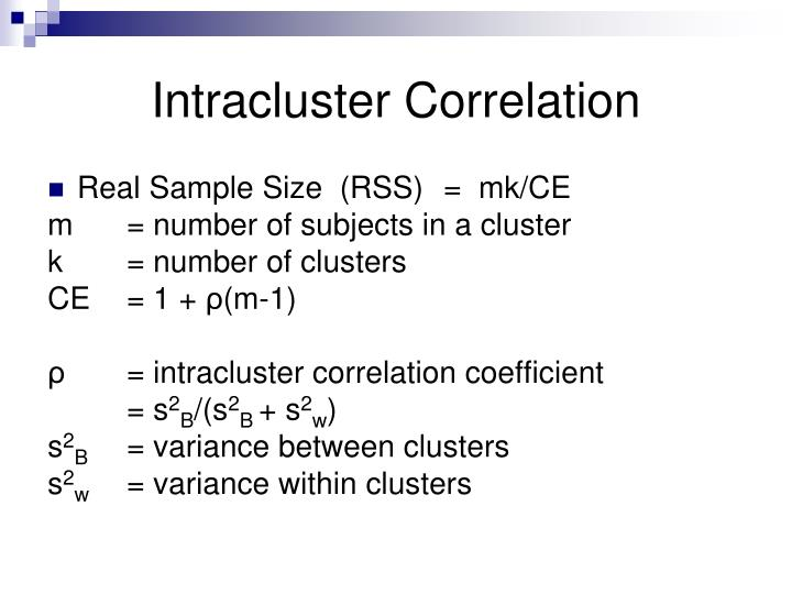 Intracluster Correlation