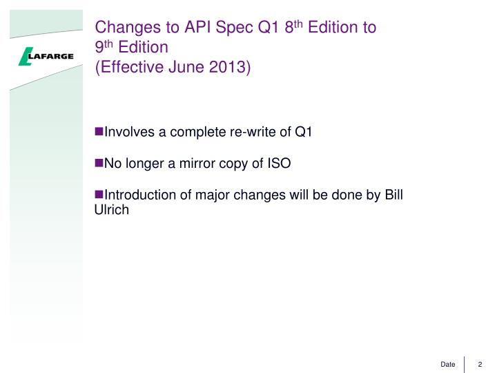 Changes to API Spec