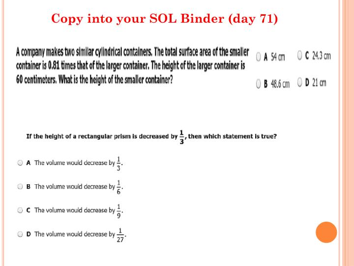 Copy into your SOL Binder (day 71)