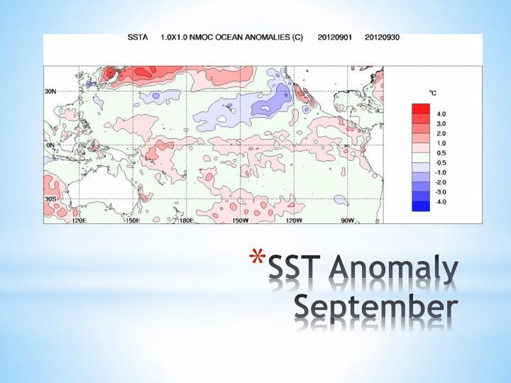 SST Anomaly September