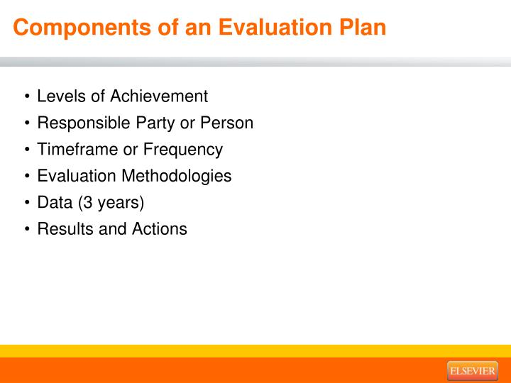Components of an Evaluation Plan