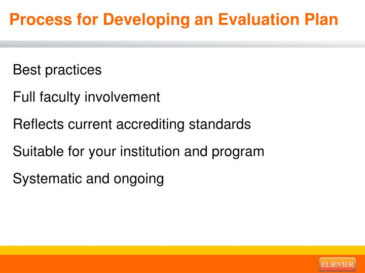 Process for Developing an Evaluation Plan