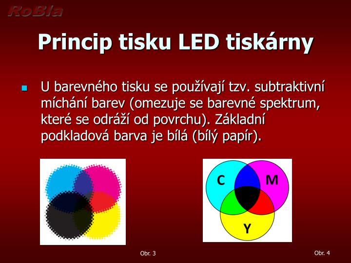 Princip tisku LED tiskárny