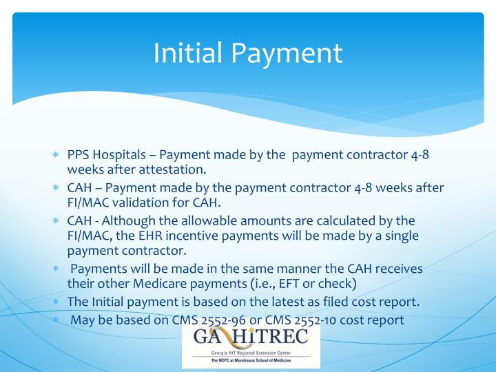 Initial Payment