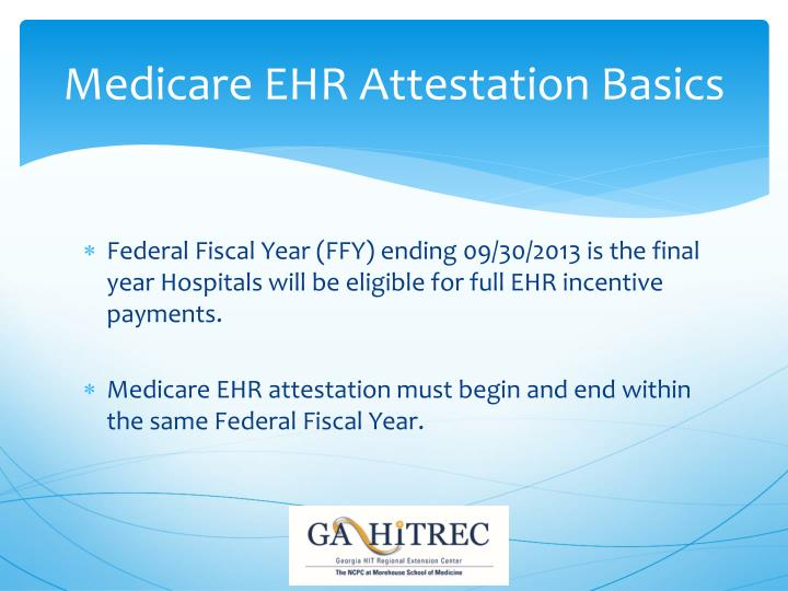 Medicare EHR Attestation