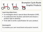 brompton cycle route graphic products
