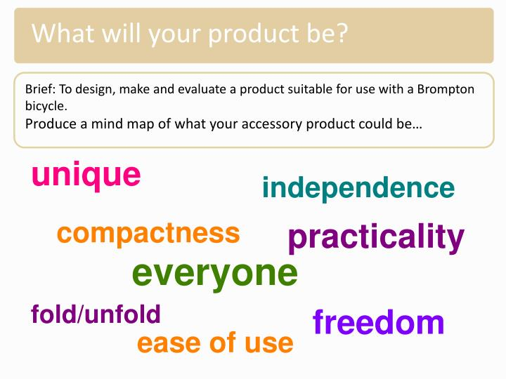 What will your product be?