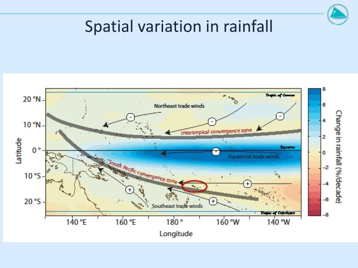 Spatial variation in rainfall