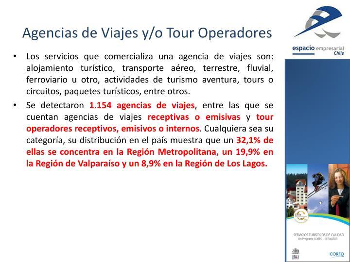 Agencias de Viajes y/o Tour