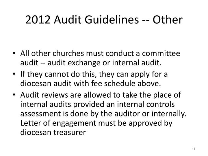 2012 Audit Guidelines -- Other