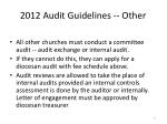2012 audit guidelines other