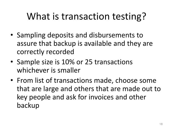 What is transaction testing?