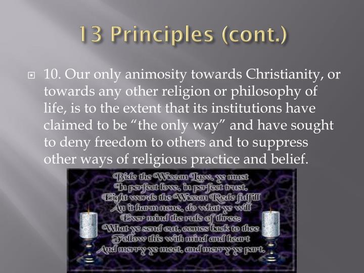 13 Principles (cont.)