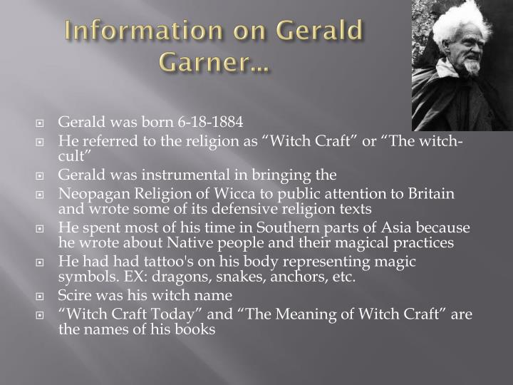 Information on Gerald Garner...