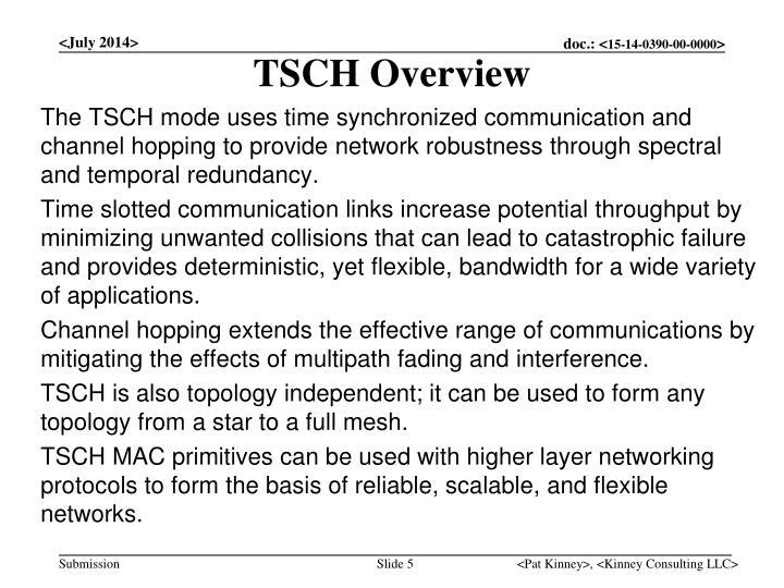 TSCH Overview