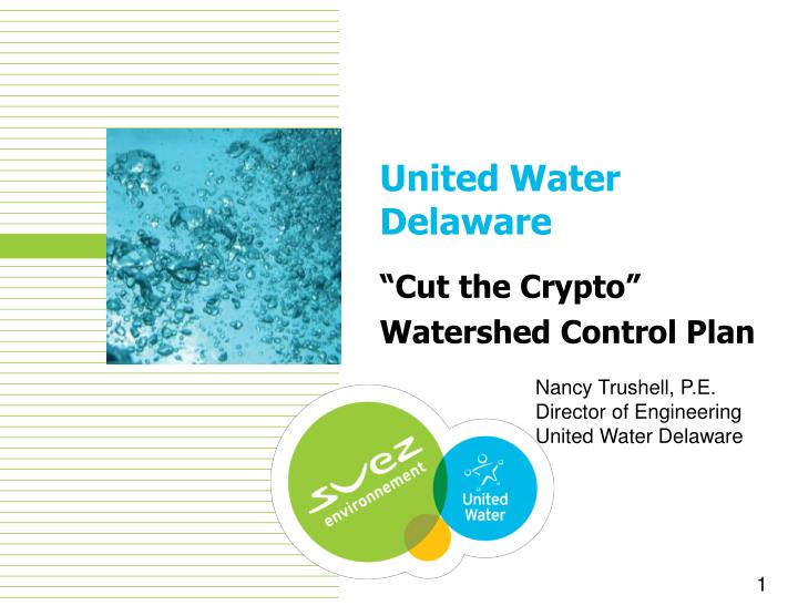 Cut the crypto watershed control plan