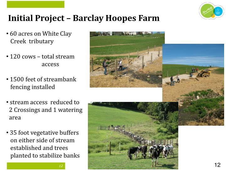 Initial Project – Barclay Hoopes Farm