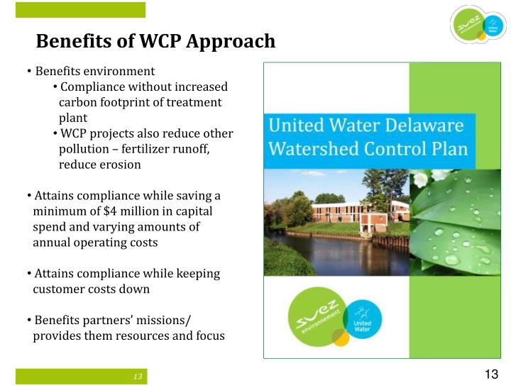 Benefits of WCP Approach
