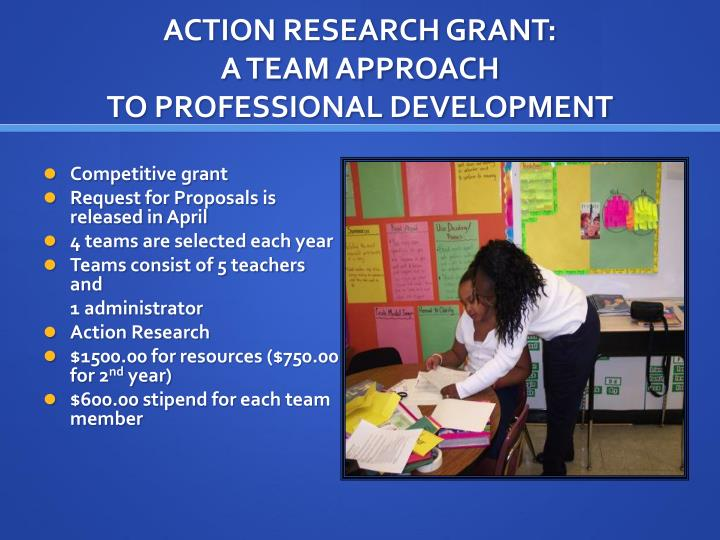 ACTION RESEARCH GRANT:
