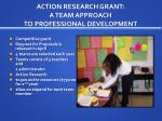 action research grant a team approach to professional development