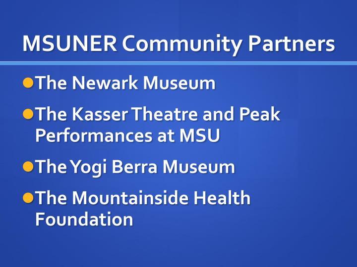 MSUNER Community Partners
