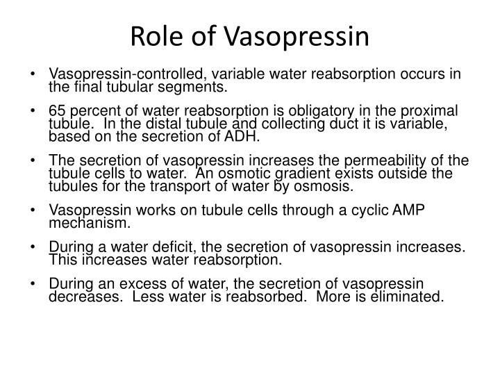 Role of Vasopressin