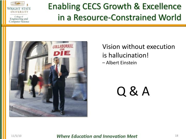 Enabling CECS Growth & Excellence