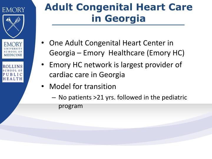 Adult Congenital Heart Care in Georgia