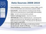 data sources 2008 2010