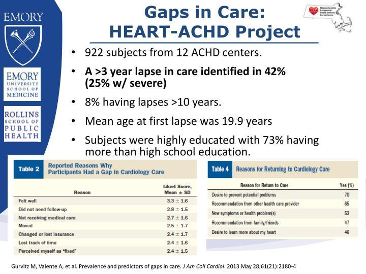 Gaps in Care: