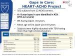 gaps in care heart achd project