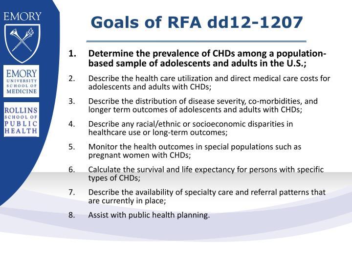 Goals of RFA dd12-1207