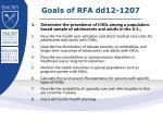 goals of rfa dd12 1207