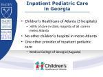 i npatient pediatric care in georgia