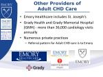 other providers of adult chd care