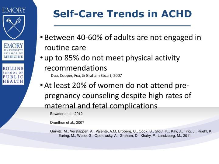 Self-Care Trends in ACHD