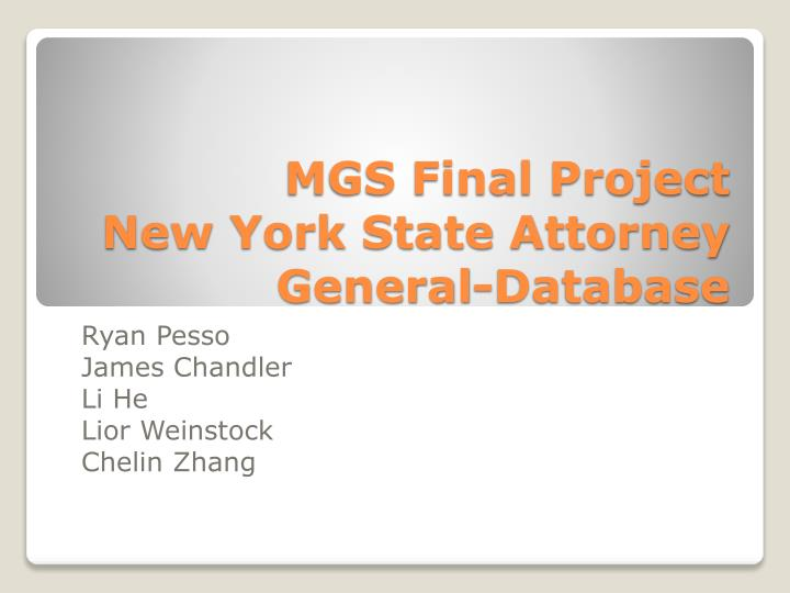 Mgs final project new york state attorney general database