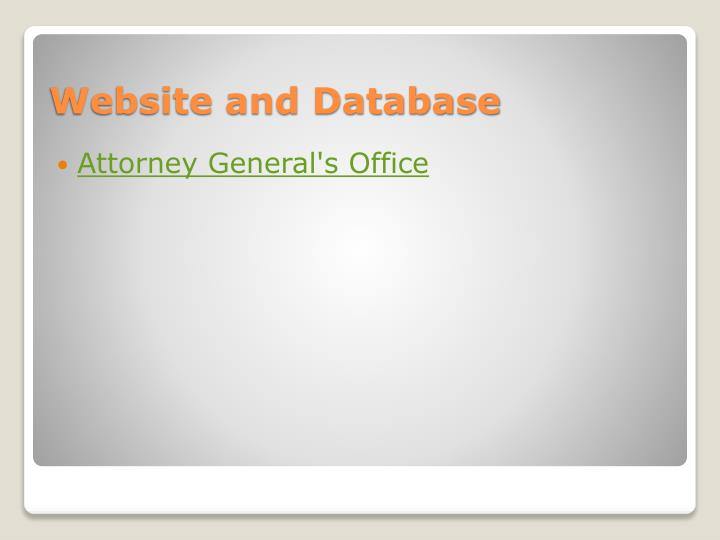 Website and database