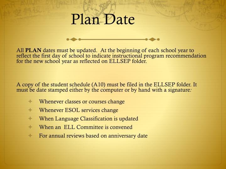 Plan Date