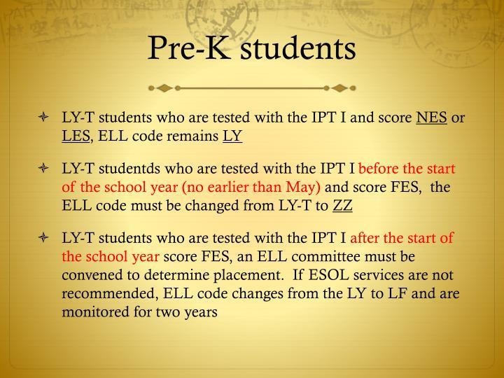 Pre-K students