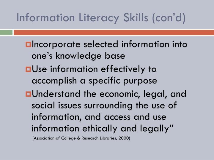 Information Literacy Skills (