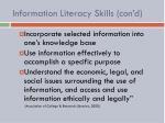 information literacy skills con d