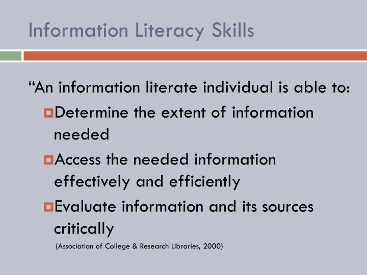 Information Literacy Skills